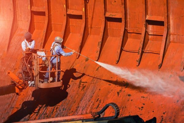 Neutral HCF cargo ship cleaning